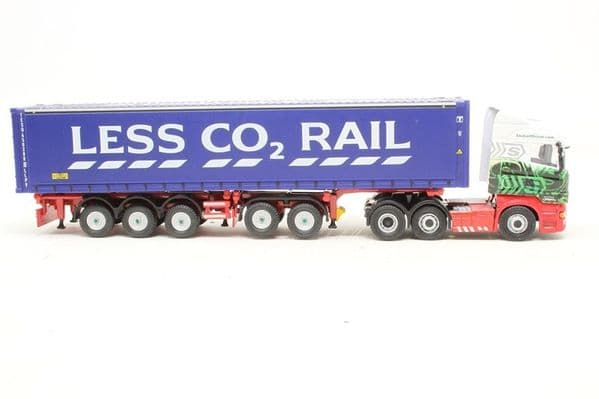 Oxford 76SHL01CT SHL01CT  1/76 OO Scania   Highline Combi Trailer & Container Stobart Less CO2 MIMB